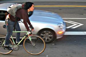 cyclist-car